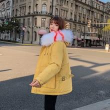 купить Brieuces Winter Jacket Women Cotton Short Jacket 2017 New Padded Slim Hooded Warm Parkas Coat Female Autumn Outerwear дешево