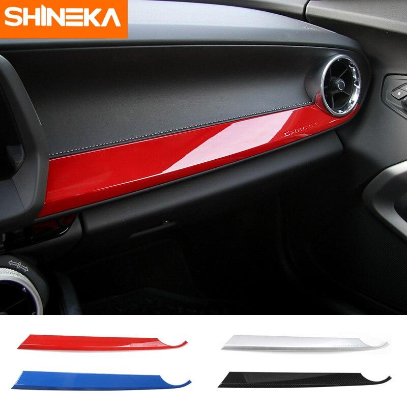SHINEKA ABS Kits Intérieur Copilote Côté Passager Panneau Décoration Garniture Style Fiber de Carbone pour la 6ème Gen Chevrolet Camaro 2017 +