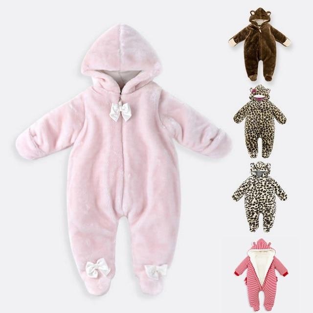 b15351727a98 Newborn Infant Baby Boys Girls Rompers Autumn Winter Long Sleeve ...