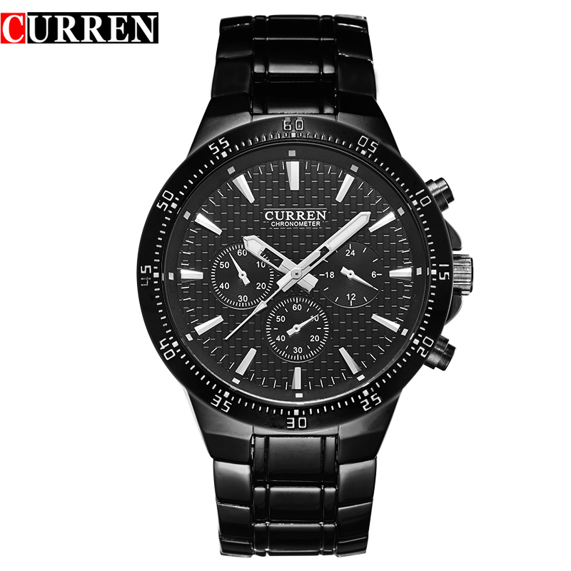 Curren Brand Relogio Hombre Hot Sale Full Steel Quartz ...