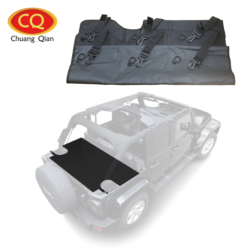 Chuang Qian For Jeep Wrangler Car Trunk Cargo Cover LITE for JKU Sports Rubicon model 2007-2017 4 Door 2 piece set locking hood look catch hood latches kit for jeep wrangler jk rubicon sahara unlimited 2007 2016
