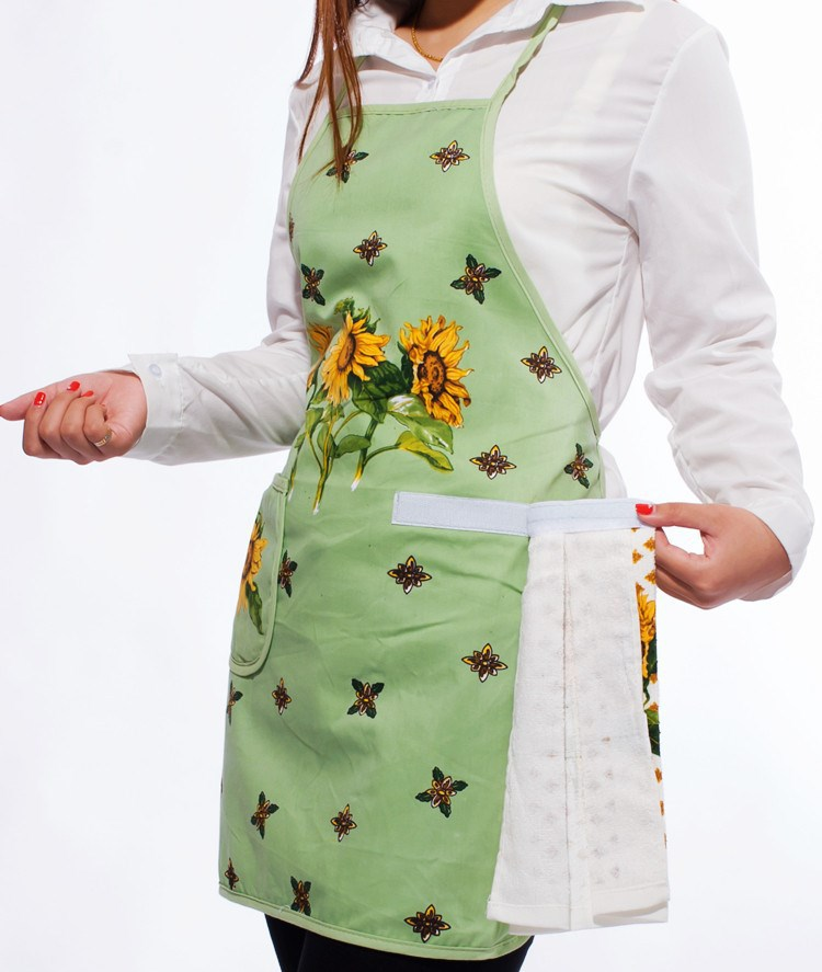 European 100% Cotton Sleeveless Apron with Hand Towel