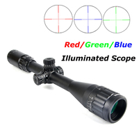4 16X50 AO Tactical Riflescope Optical Sight Full Size Mil Dot Red Green Blue llluminated Hunting Scopes