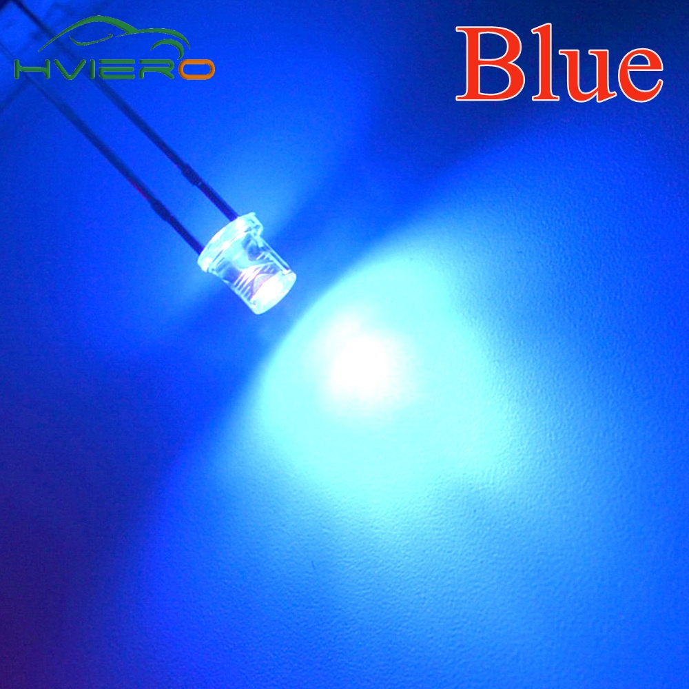 100pcs 5mm Flat top Red Wide Angle Light lamp LED ultra bright emitting
