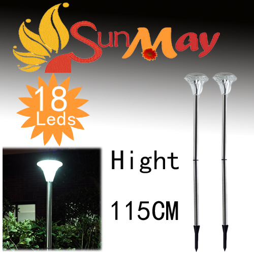 ФОТО 18LEDs Solar garden lamp solar power panel path yard  shed fence stainless steel  street light   Free Shipping
