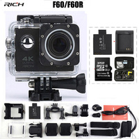 Action Camera F60 F60R Remote Allwinner V3 4K 1080p Wifi 2 0 LED 170 Degree Diving