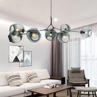 Nordic style magic beans chandelier creative personality postmodern simple living room lights restaurant lyingLED