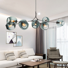 Nordic style magic beans chandelier creative personality postmodern simple living room lights restaurant lyingLED nordic chandeliers creative postmodern magic beans art restaurant simple glass ball branches tree twig molecules living room led