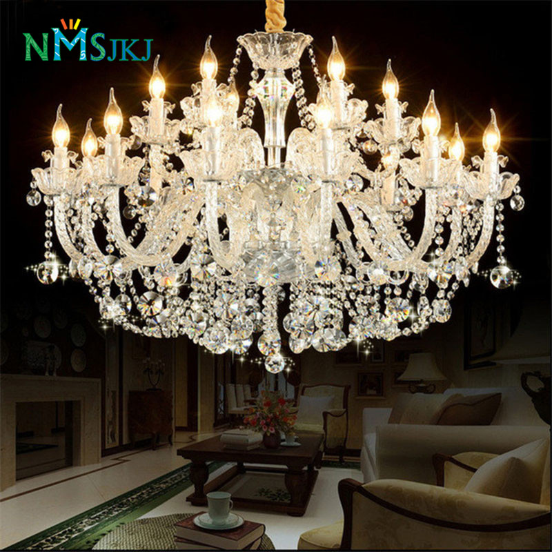 Crystal Chandeliers For A Luxury Hotel In Italy: European Style K9 Crystal Chandelier Light Fixture Luxury
