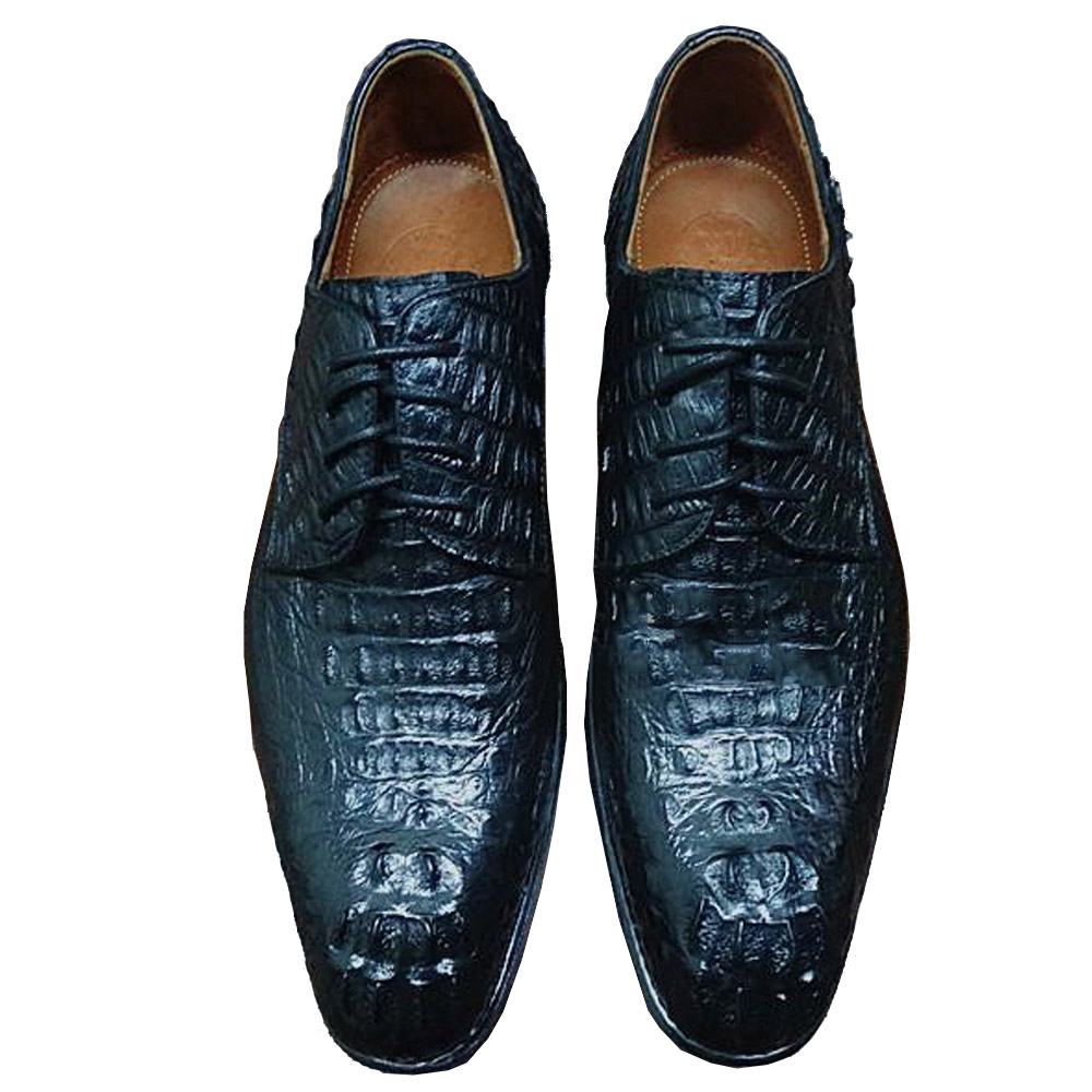 Useful Sipriks Mens Alligator Skin Shoes Male Croscodile Dress Shoes Goodyear Welted Shoes Italian Custom Boss Black Tan Leather Shoes Formal Shoes Shoes