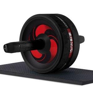 Nieuwe Hot Ab Roller & Springtouw Geen Lawaai Abdominale Wiel Ab Roller Met Mat Voor Oefening Fitness(China)