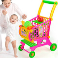 New Kitchen Toy Fruits Vegetables Food Trolley Toy Supermarket Shopping Cart Pretend Play Toys