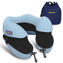 Oreiller en forme de U pour le cou en mousse à mémoire de forme, accessoires de voyage, oreiller confortable pour dormir, Textile domestique, 5 couleurs