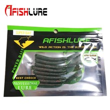 8pcs/lot Afishlure knife Tail Soft Worm  2.4g 80mm Silicon Grubs Soft Baits Simulation Moggot Carp Fishing Tackle  isca pesca