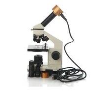 Новый 40X-1280X увеличение Профессиональный Биологический микроскоп + 200 пикселей электронный окуляр