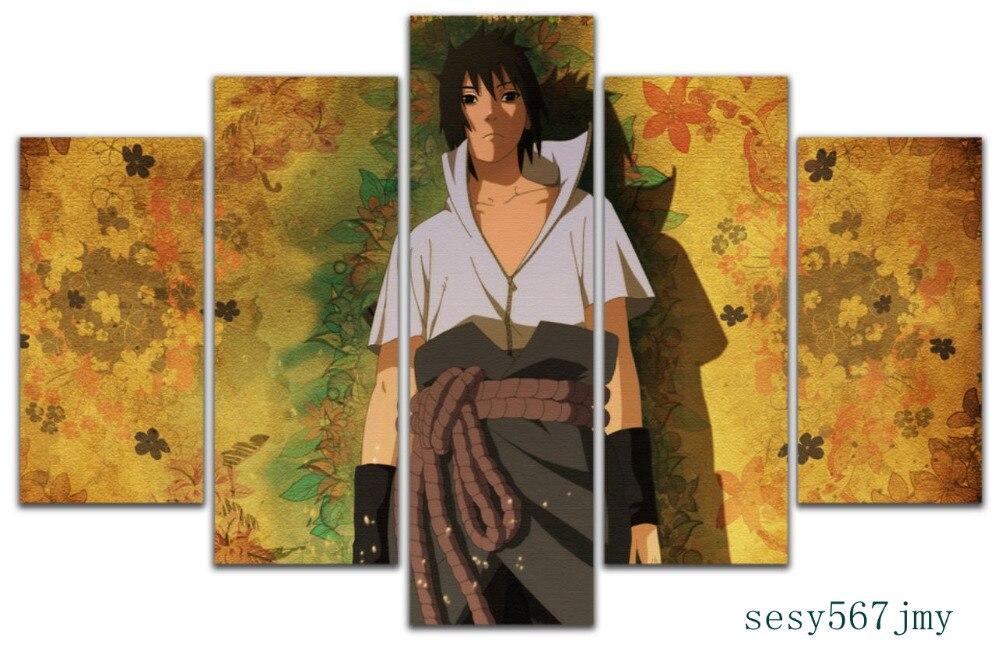 Art abstrait intérieur décor mt Anime A16 NARUTO Uchiha Sasuke toile décoration 5 pièces