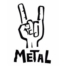 Heavy Metal Sticker Vinyl Decal Electric Bass Guitar Rock Personality Car Accessories