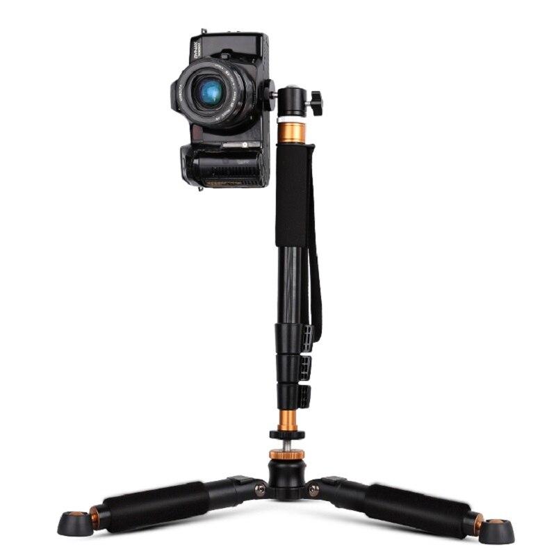 Moveski Q148 360 degrés pivotant tête à bille fluide portable pliable Selfie bâton monopode