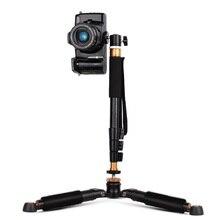 Moveski Q148 360 degrees Swivel Fluid Ball Head Handheld Foldable Selfie Stick Monopod