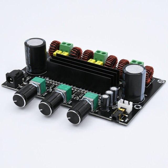 M573 TPA3116 D2 80Wx2 + 100 Вт 2,1 канальный аудио цифровой усилитель мощности, плата бас сабвуфера с предусилителем NE5532