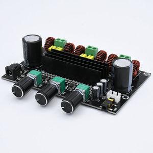 Image 1 - M573 TPA3116 D2 80Wx2 + 100W 2.1 채널 오디오 디지털 전력 증폭기 보드베이스 서브 우퍼 NE5532 프리 앰프