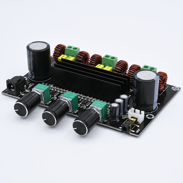 M573 TPA3116 D2 80Wx2 + 100W 2.1 채널 오디오 디지털 전력 증폭기 보드베이스 서브 우퍼 NE5532 프리 앰프