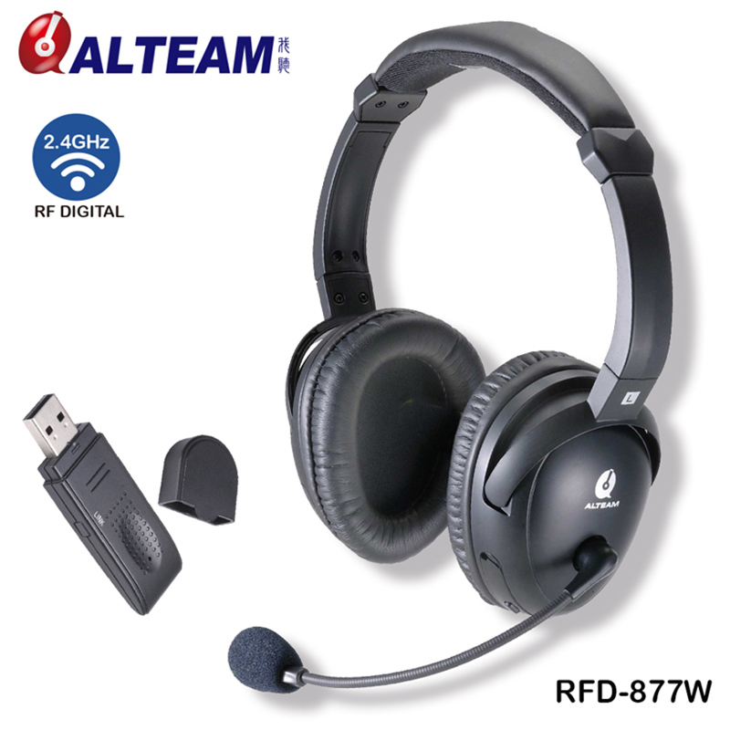 For Computer PC Business Skype Gamer Game Gaming TV 2.4G RF Wireless USB Dongle Headsets Earphones Headphones with Mic each g8200 gaming headphone 7 1 surround usb vibration game headset headband earphone with mic led light for fone pc gamer ps4