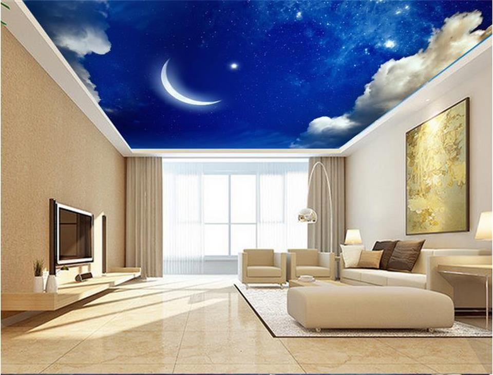 3d wallpaper photo wallpaper custom size ceiling room mural dream starry sky moon 3d painting wall murals wallpaper for walls 3d