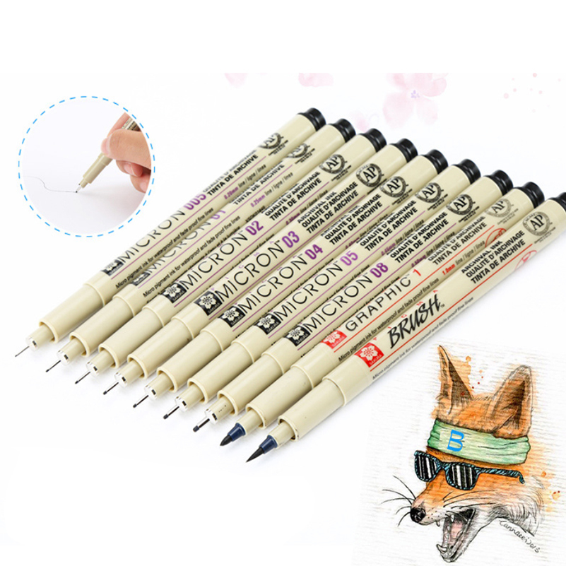 Premium Pigma Micron sketching markers for artists architecture Needle Manga Painting Drawing Art Supplies brush pen