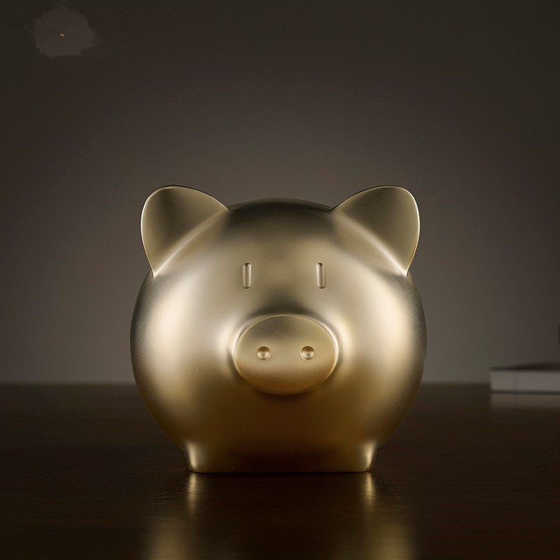 Mini Gold Pig Sculpture Abstract Feng Shui Pig Figurine Art Statue Brass Art&Craft Home Decoration Accessories Souvenir R292