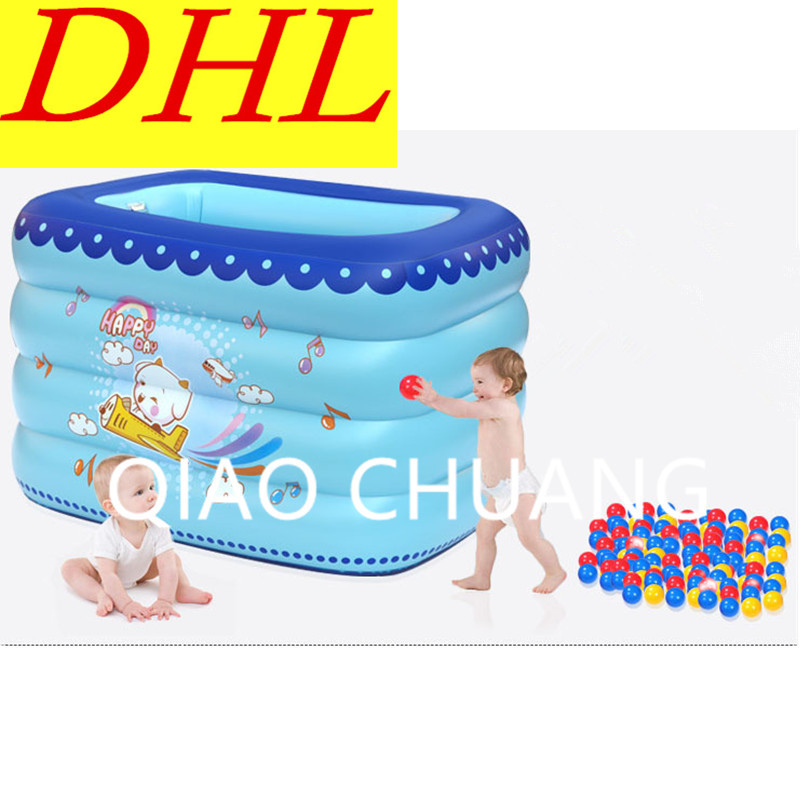 Baby Heat Preservation Paddling Pools Inflatable Bath Tub PVC Thicken Cartoon Printing Swimming Pool G979