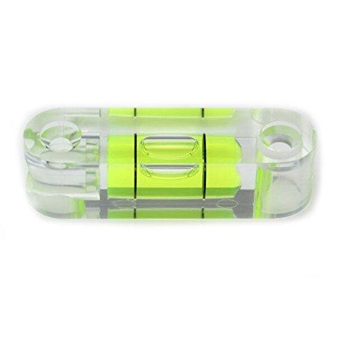 4 fiale bolla PICS livella a bolla livellatore di superficie standard utilizzare con treppiede ecc., Vite acrilica a livello, lunghezza 55mm