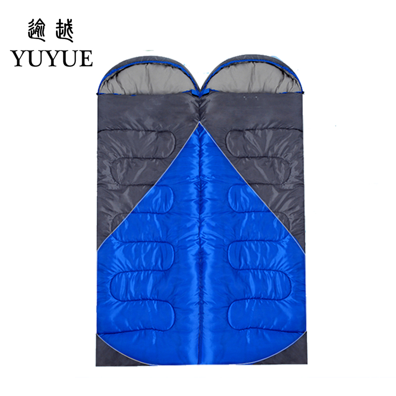 2.2 kgs Waterproof Camping Sleeping Bag Winter Outdoor Splicing Double Sleeping Bags For Lovers Sleep Bag For Women Cold Weather 3