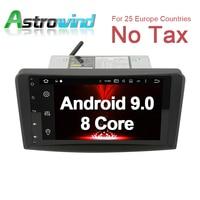9 inch 4G RAM Android 9.0 Car GPS Navigation Media Stereo Radio For Mercedes Benz W164 M300 ML350 ML450 ML500 X164 GL320 GL350