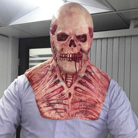 Hot!!! Halloween Blood Skull Mask Latex Scary wigs haunted house zombies horror decoration Rib muscle devil terror masks Vampire