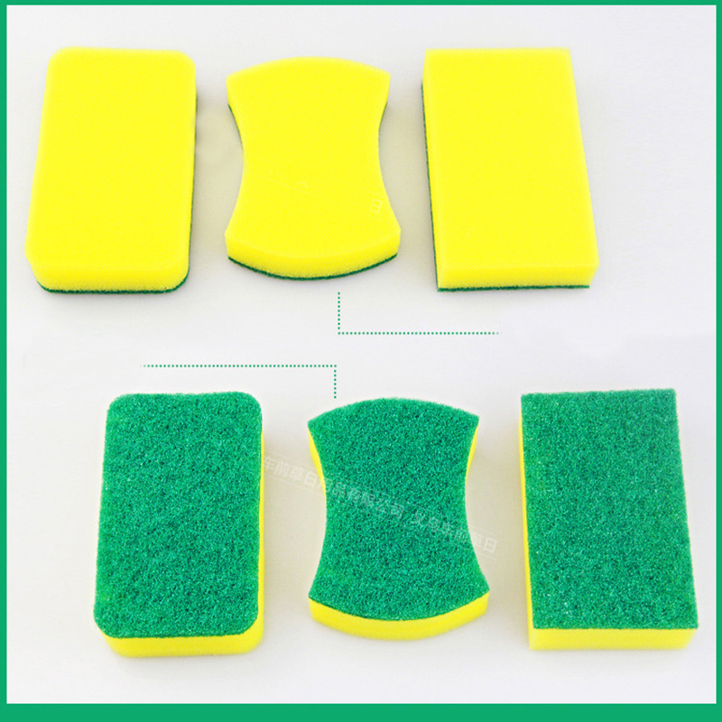 Image 5 - 10Pcs High Density Sponge Kitchen Cleaning Tools Washing Towels Wiping Rags Sponge Scouring Pad Microfiber Dish Cleaning Cloth-in Sponges & Scouring Pads from Home & Garden