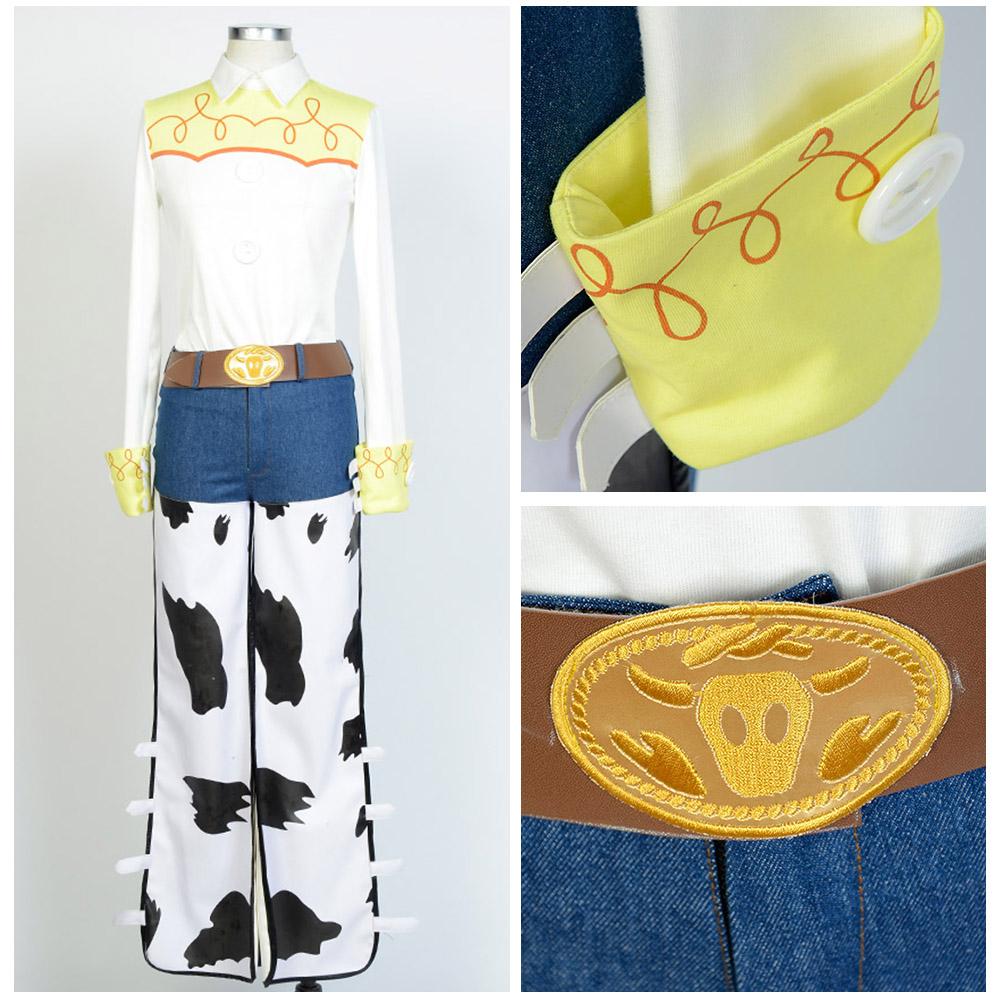 Toy Story The Yodeling Cowgirl Jessie Outfit Cosplay Costume Halloween Carnival Costumes For Adult