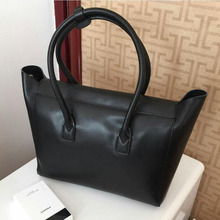 2017 New Fashion Genuine Leather Women's Tote Bag Soft Real Leather Handle Bags