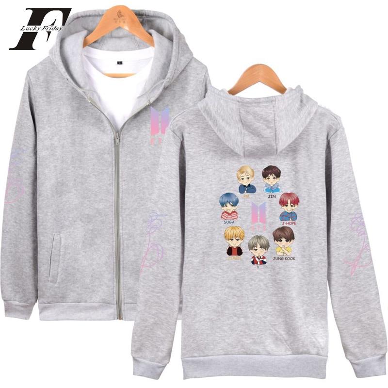 LUCKYFRIDAYF 2018 bts kpop cotton oversized hoodies & sweatshirts womens men hoodies for women pullover hoodies moletom feminino