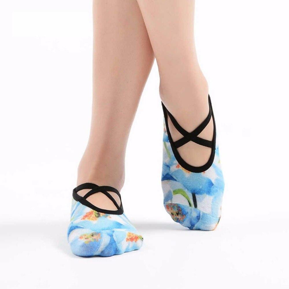 US $8 58 |New Summer Thin Print Yoga Sock Slippers Coolmax Wicks Sweat Pile  Socks PVC Anti Skid Quick Dry Meias for Pilates Fitness Studio-in Yoga