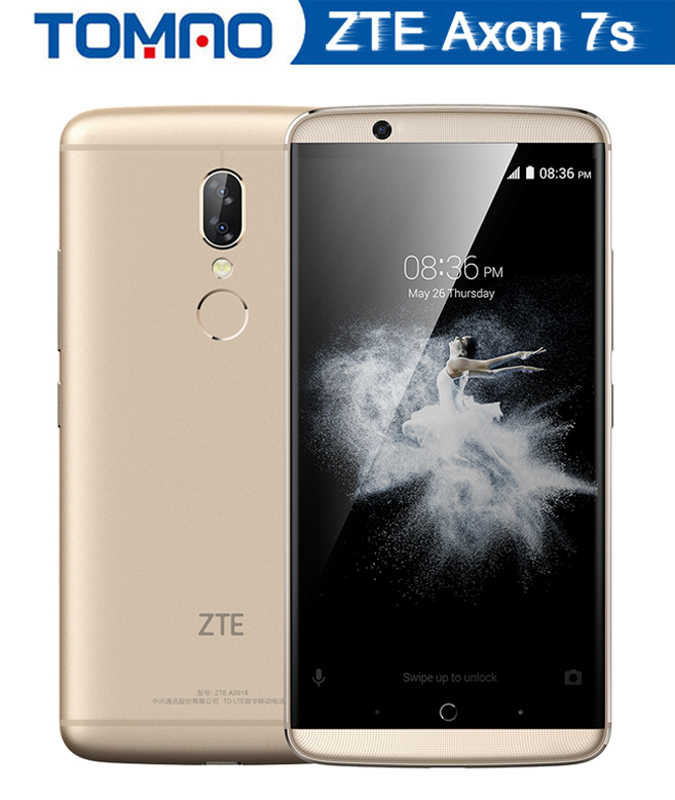 Original ZTE Axon 7s Mobile Phone Snapdragon 821 Quad Core 5.5 2560X1440 AMOLED 4g RAM 128G ROM 20.0MP Fingerprint 4g phone
