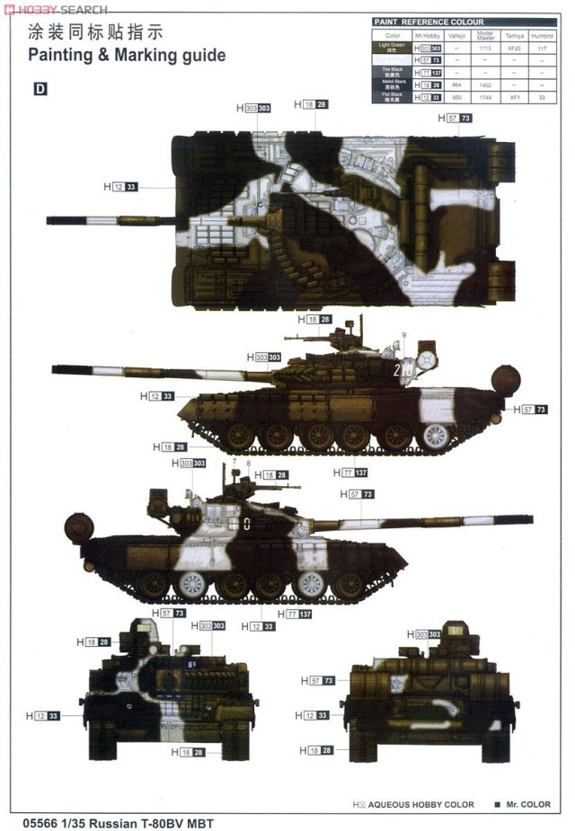 Trumpeter 5566 Russian T-80BV MBT in 1:35