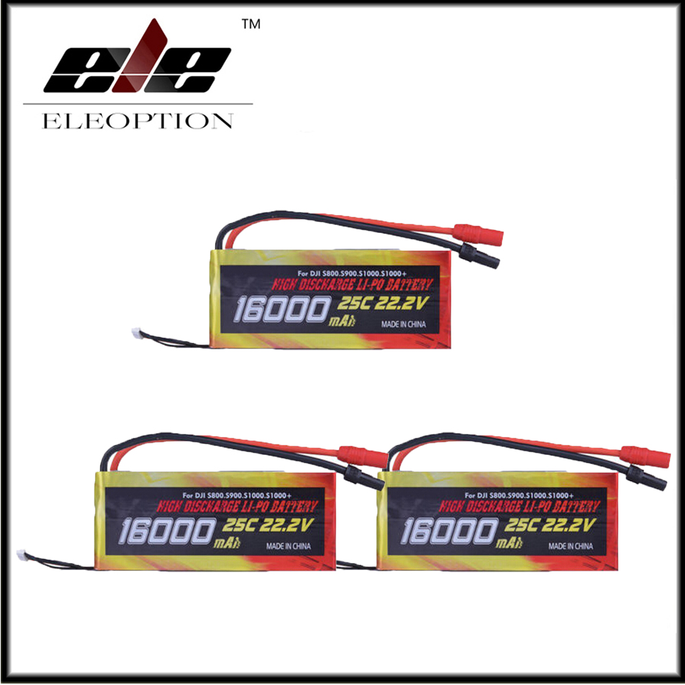 3x High Quality 16000mAh 6S1P 22.2V 25C LiPo Battery for Drone DJI S800 S900 S1000 helicopter High Capacity vector optics condor 2x42 red and green dot rifle scope sight with 20mm weaver mount base for hunting 12ga shotgun 22 rifle