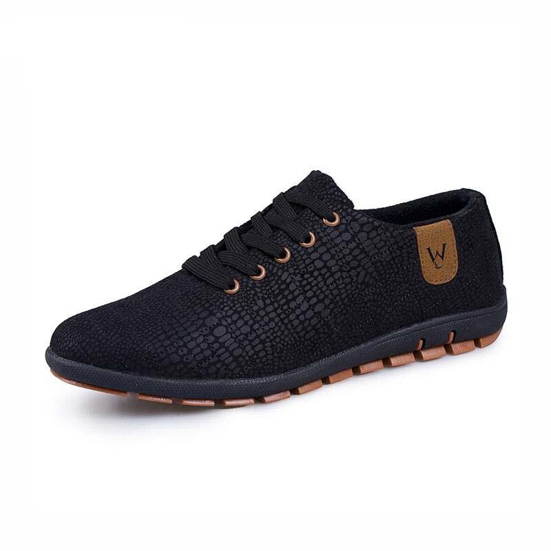 Printemps/chaussures d'été hommes Respirant Hommes Chaussures décontracté Mode Bas à lacets chaussures de toile Appartements Zapatillas Hombre grande taille 45,46, 47 - 2