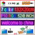 Открытый 52 ''x 8'' ДЮЙМОВЫЙ 1/4 сканирование RGB P10 полноцветный СВЕТОДИОДНЫЙ ВХОД Поддержка USB Wi-Fi редактировать для рекламы LED дисплей