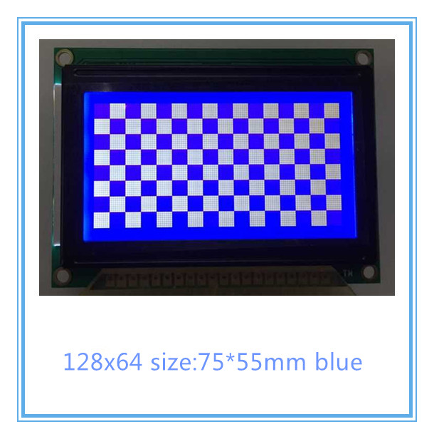 12864 LCD affichage 75x52.7 cm LCM12864D-V1.0 WG12864B AC12864E bleu mini petite taille