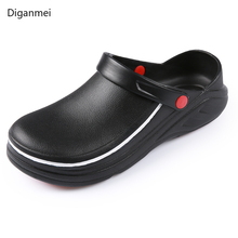 Men Non-slip Professional Chef Shoes Flat Work Shoe Unisex Breathable Non-Slip and Wear-Resistant Kitchen Cook Working Shoes cheap Food Service Viscose Accessories D005 Twill DiGanMei M L XL2XL 3XL chef s shoes Flat slippers Soft Comfort Breathable