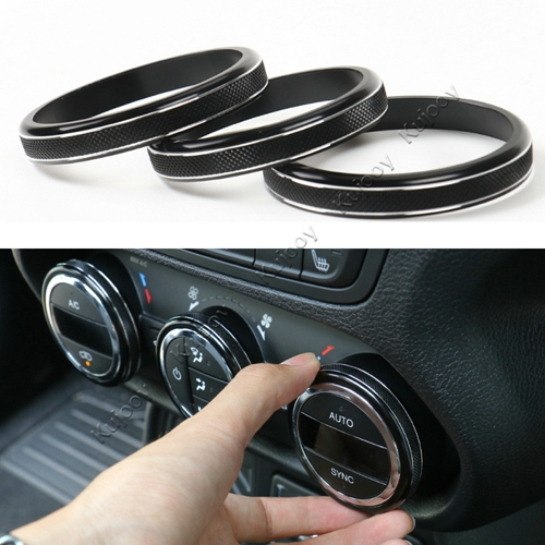 Pair Air Conditioner Air Outlet Vent Cover Ring Decor For Ford F150 2015 Silver