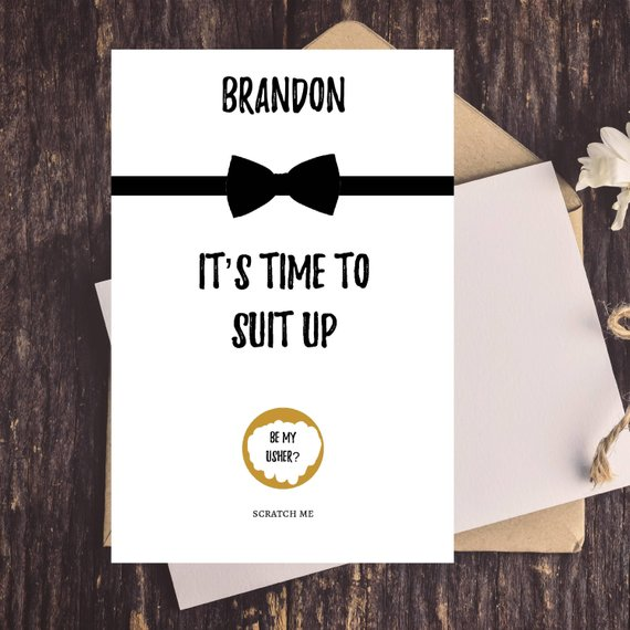d312ec5c235f1 US $11.93 17% OFF|personalize name Groomsman Proposal Scratch Off cards,  funny Groomsmen Proposal Card Set, Best Man proposal scratch off cards-in  ...