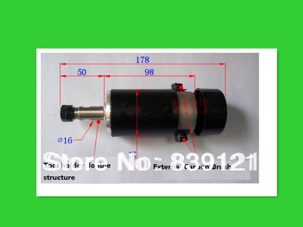 E240 high-speed DC spindle motor air cooled 300W for engraving machine dc110v 500w er11 high speed brush with air cooling spindle motor with power fixed diy engraving machine spindle